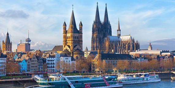 Boat in Cologne Germany